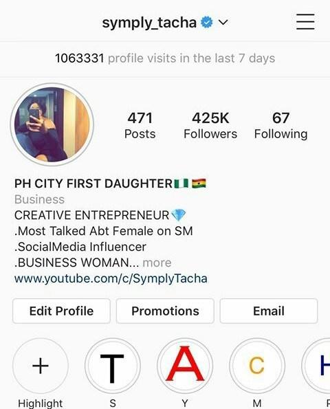 BBNaija: Tacha gets verified by Instagram