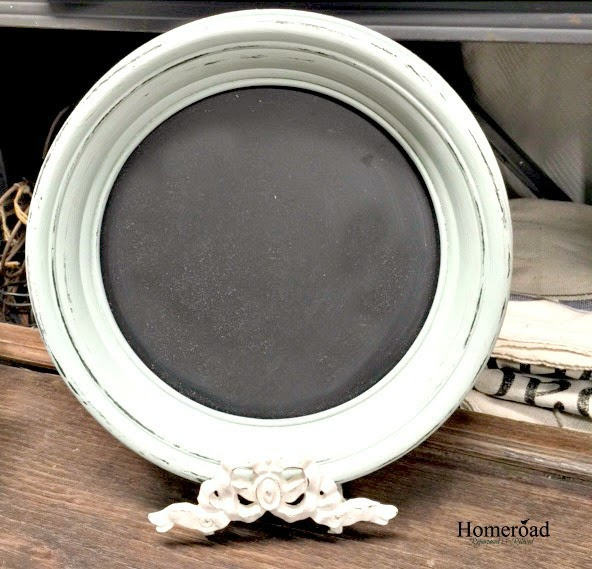 Round Chalkboard Frame on a Stand