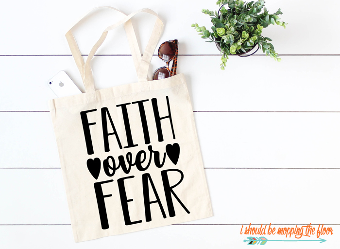 Faith Over Fear Cut File