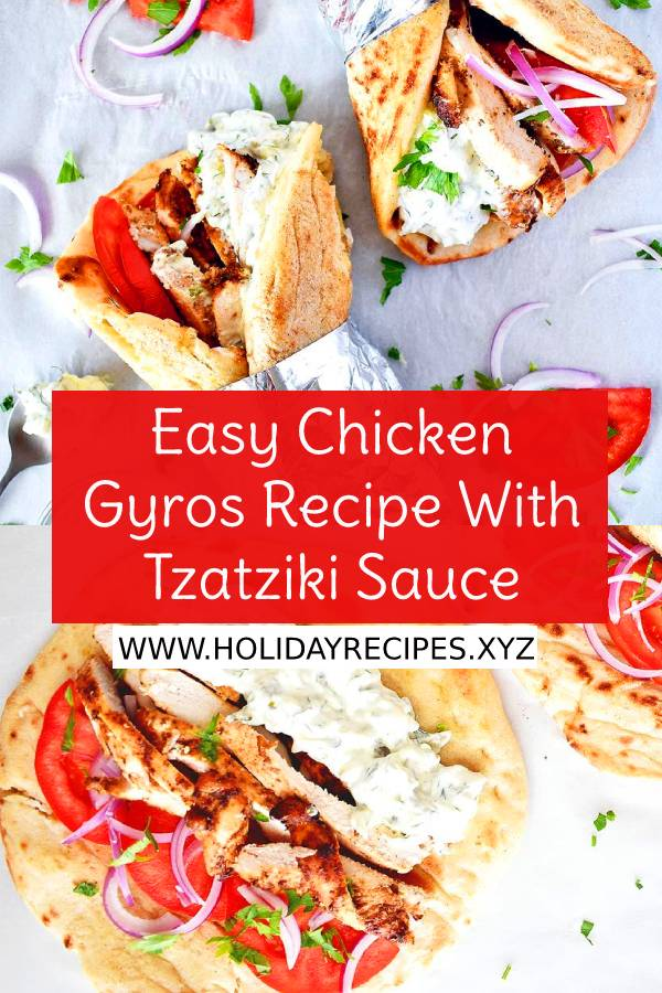 Easy Chicken Gyros Recipe With Tzatziki Sauce #easychickenrecipe #chickengyros #tzatzikisauce #chickenrecipe #brunch #lunch #easyrecipe #maindish #dish #healthyrecipes #chickenbreast