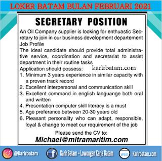 Lowongan Kerja Sebagai Sekretaris