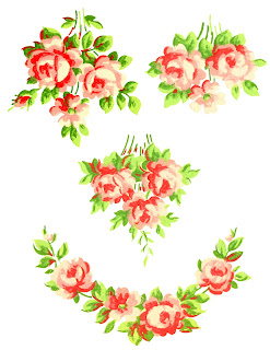 rose flower collage printable clipart images free