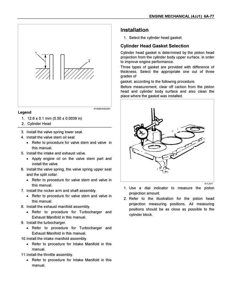 Isuzu 4jj1 Service Manual