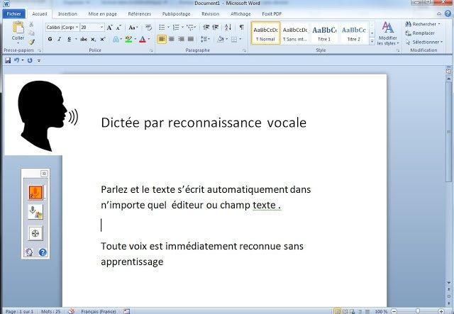 Vidéo de démonstration de la reconnaissance vocale