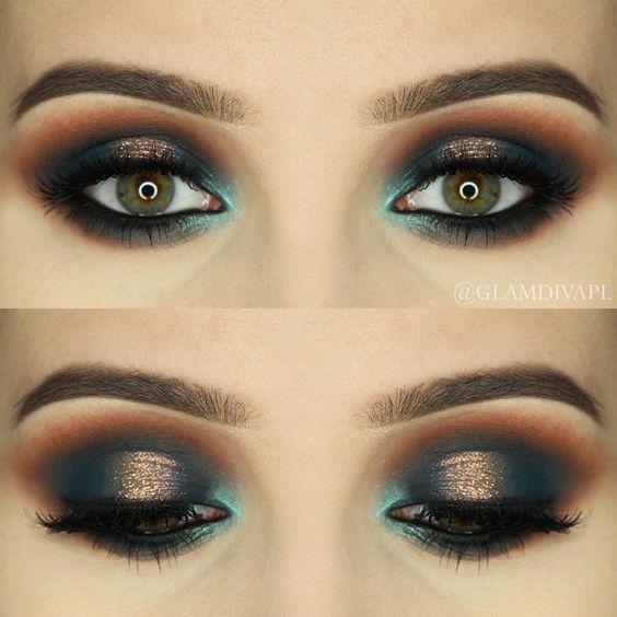 make-up summer look blue