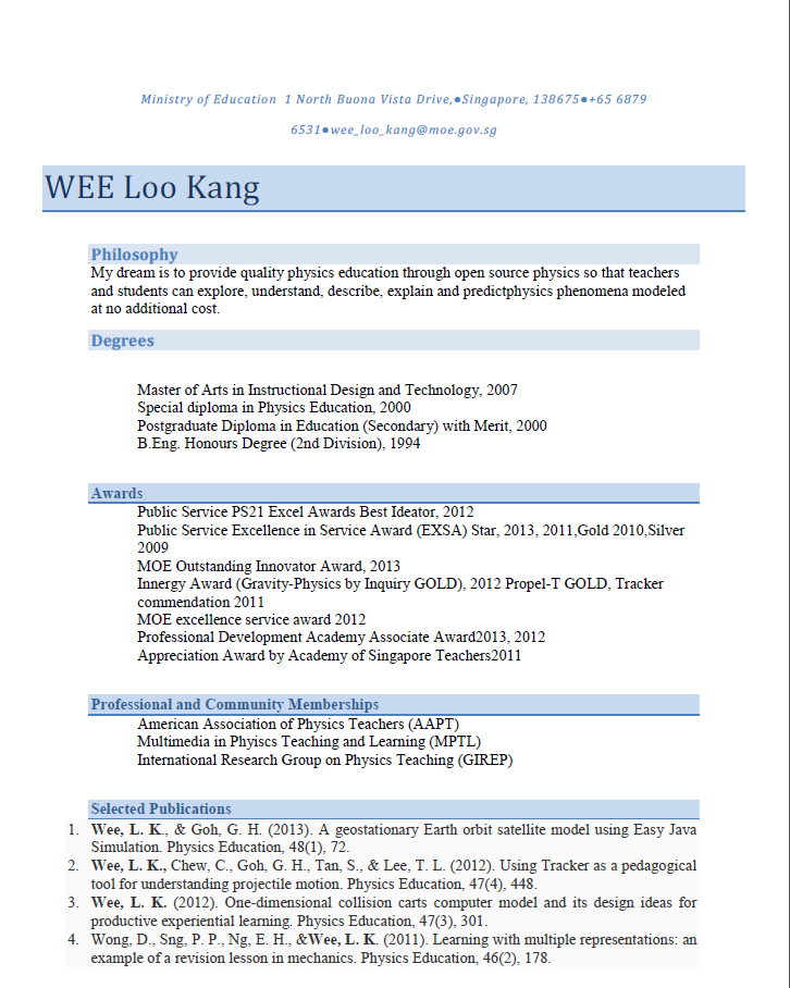 Mike Kobre s essay featured on blog site cv or resume in singapore