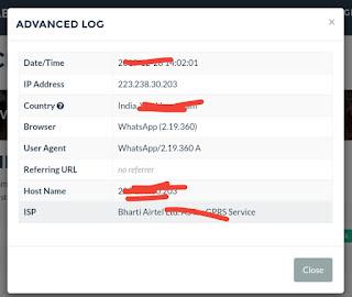 Grabify IP logger results