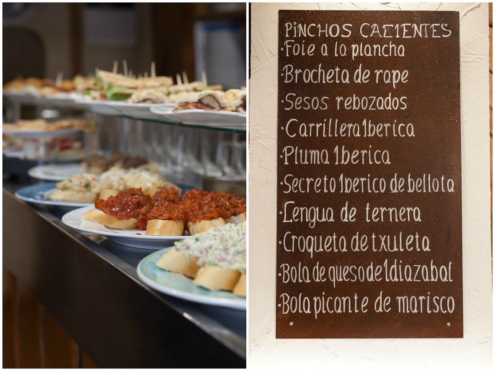 pintchos of basque country