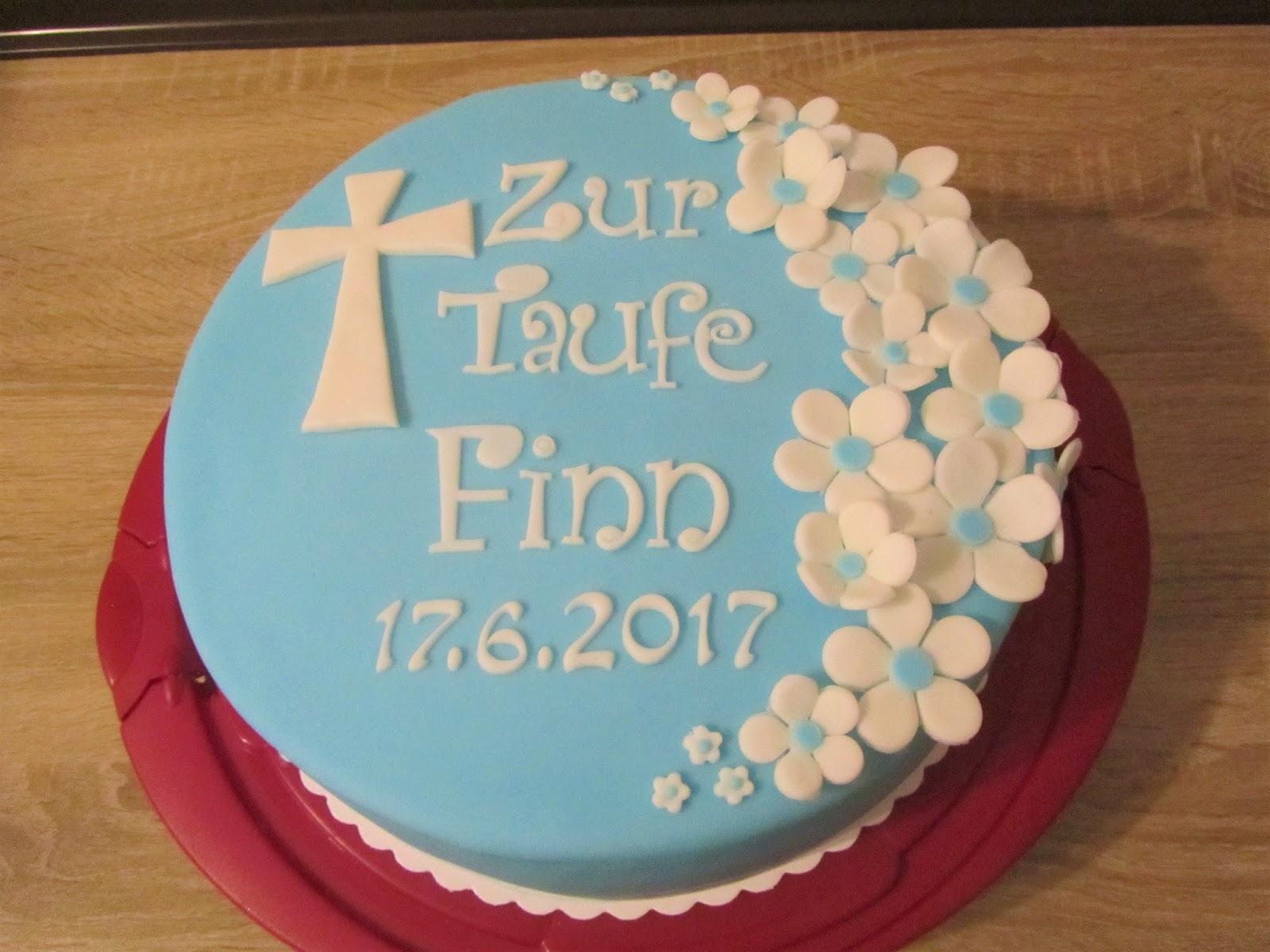 Torte Zur Taufe Blume Fur Den Jungen Anke S Torten Wunsch