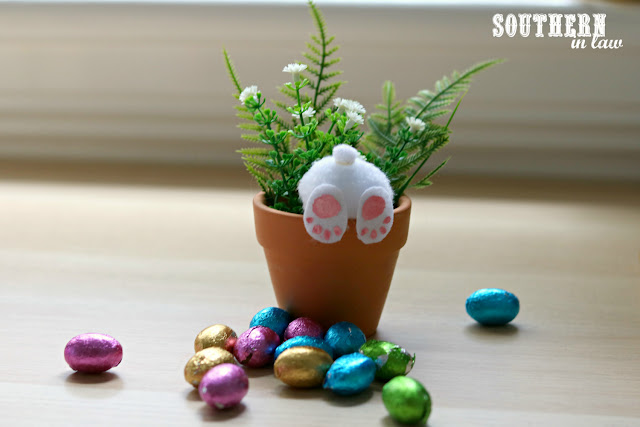 Easy Easter Craft Ideas for Kids - DIY Curious Bunny Pots - Fill Your Pots with Easter Eggs