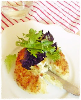 panko crusted potato cake