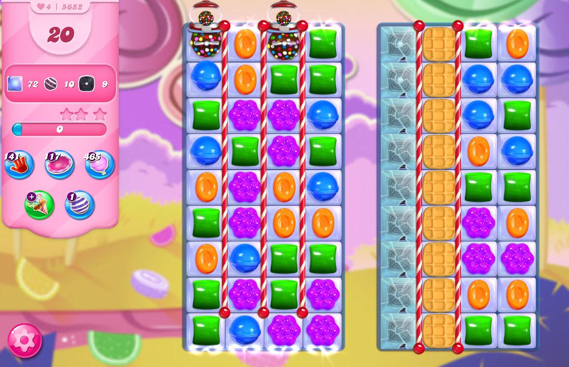 Candy Crush Saga level 5652