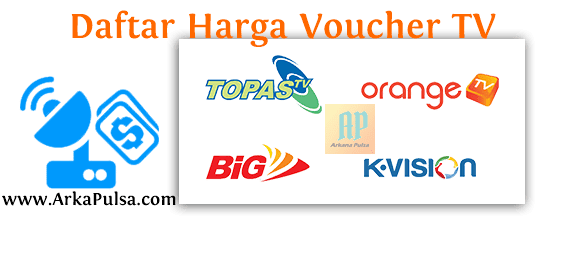 Daftar Harga Voucher TV Prabayar Server Arkana Pulsa CV Sinar Surya Suryandaru Blora