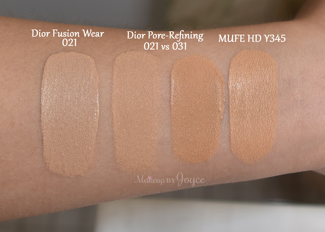 Dior Forever Perfect Makeup Broad Spectrum 35 Review Swatch 021 031