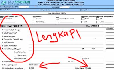 cara mengisi formulir pendaftaran bpjs online