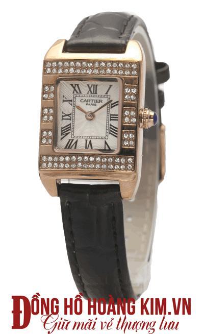 bán đồng hồ nữ dây da cartier