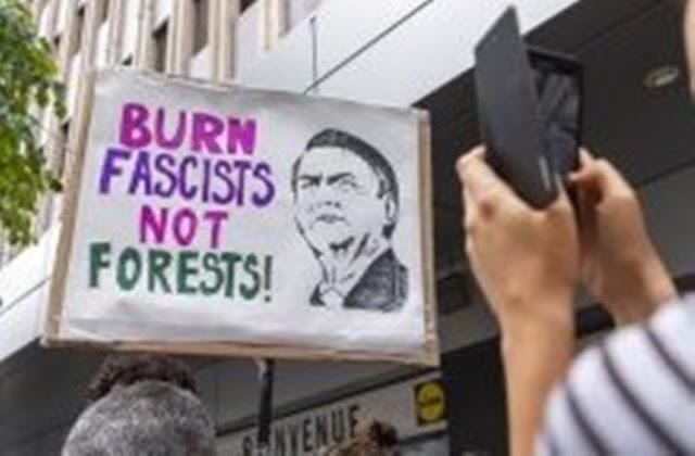 Queimem os fascistas, não as florestas -- a revolta que Bolsonaro causa