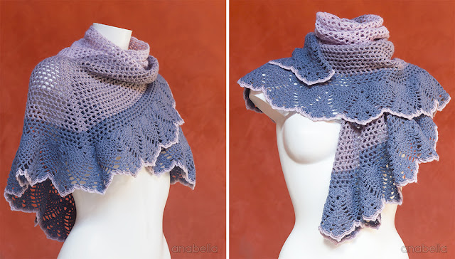 Crochet shawl by Anabelia Craft Design