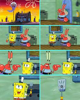 Polosan meme spongebob dan patrick 107 - spatula plankton