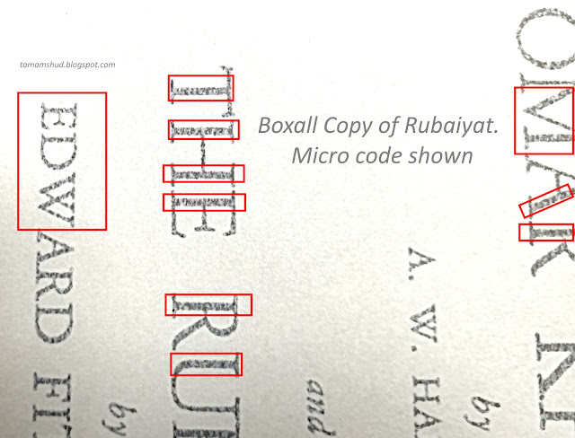 Close up image showing micro writing within the printed text