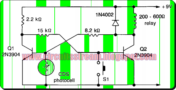 Simple Light-operated switch Circuit Diagram