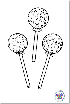 Sweet lollipop coloring page