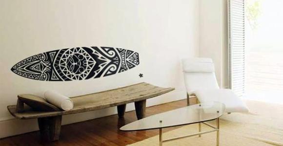 96405a636 SALA     prancha de surf maori ~ VINTAGE adesivos customizados