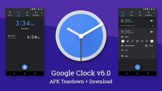 Google Clock v6.0 APK to Download : App Got new Visual Tweaks & Sunrise Effect