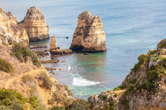 Ponta da Piedade, no Algarve, em Portugal.