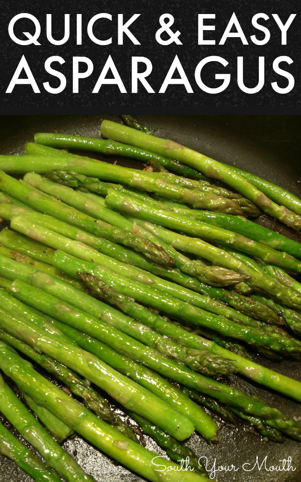 A simple recipe for perfect sauteed asparagus with garlic and olive oil that's ready in minutes.