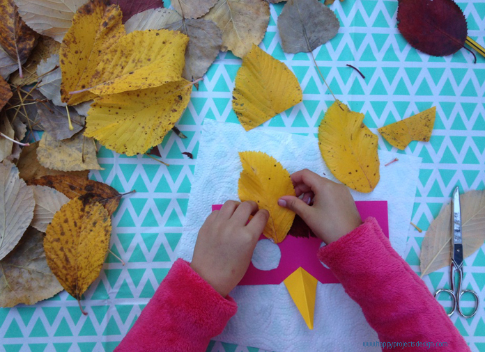 DIY máscara con hojas