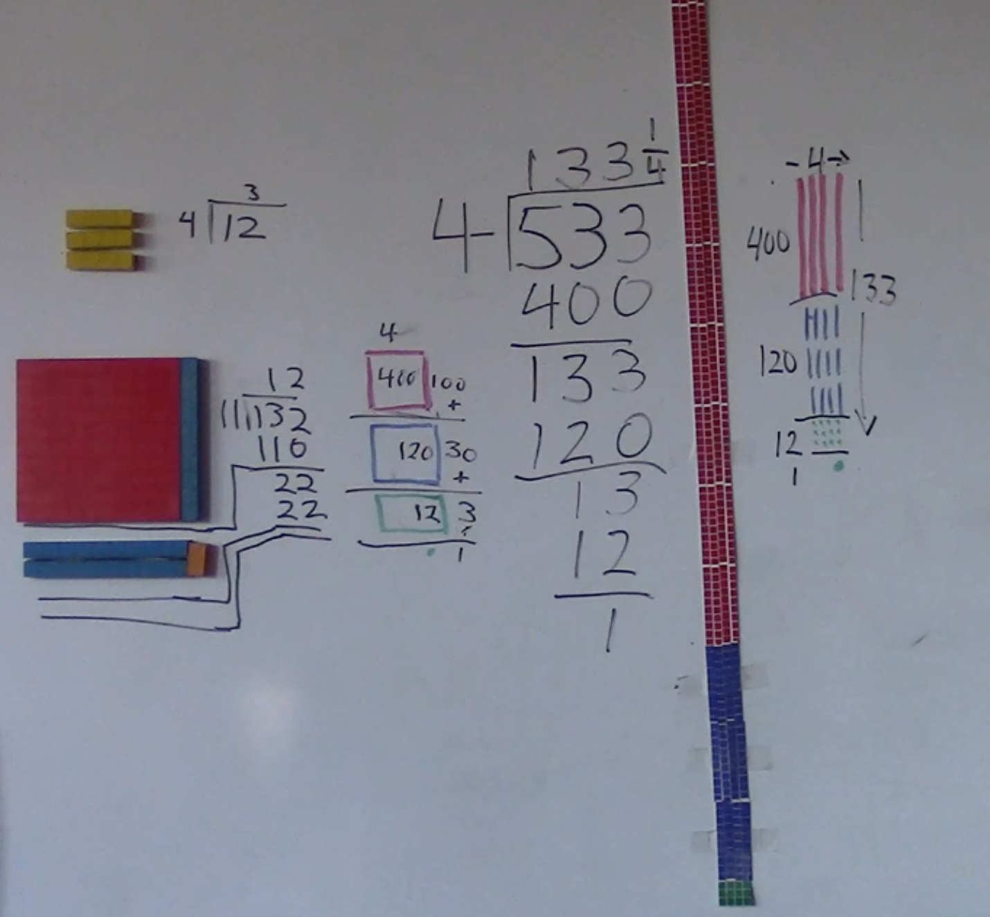 homeschool math, base ten blocks, manipulatives, division