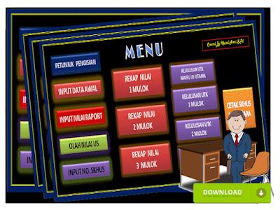 Aplikasi Olah Nilai Sekolah SD Otomatis  Versi 2016