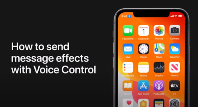 How to send message effects with Voice Control - Qasimtricks.com