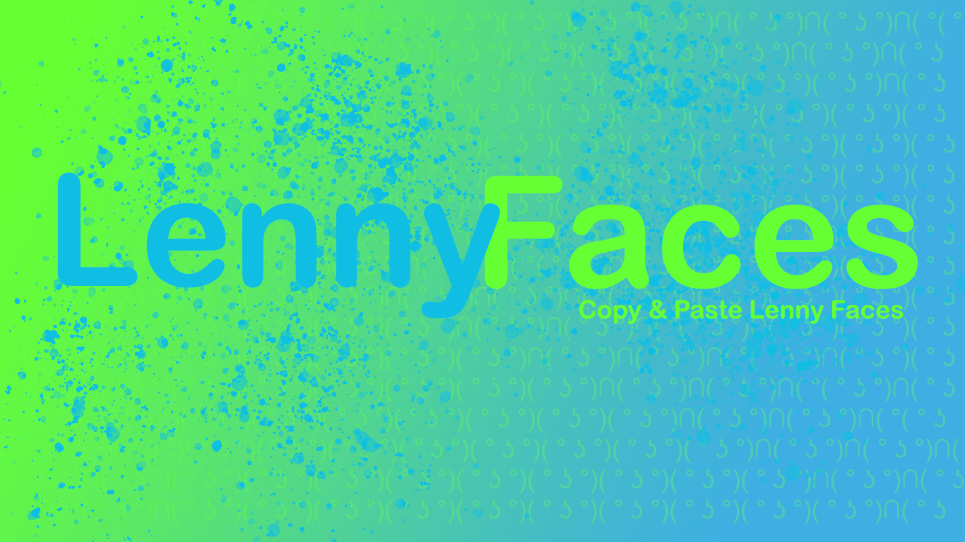 Lenny faces - Copy Cool Lenny and Text Faces