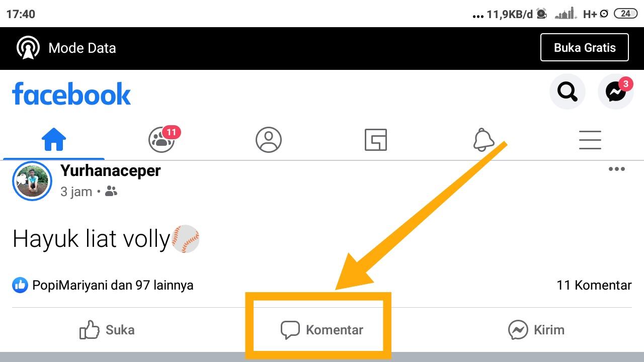 cara membuat emoji di komentar facebook