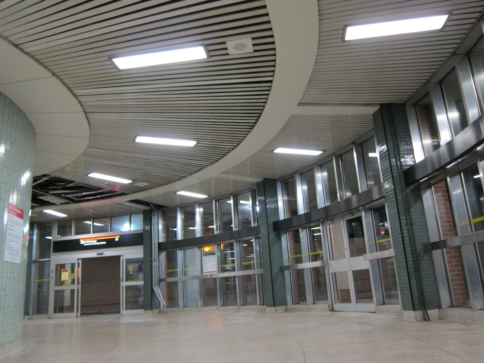 Wellesley station bus platform interior