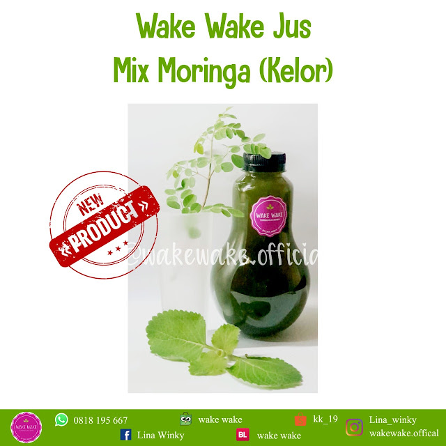 Wake Wake Juice Mix Moringa, Jus Daun Kelor Ibu Menyusui