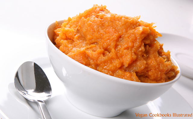 Vegan Cookbooks Illustrated: Ginger Mashed Sweet Potatoes