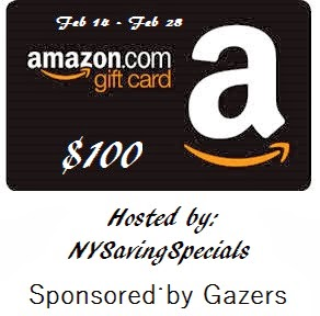 Enter to win the Amazon Gift Card Giveaway. Ends 2/28.