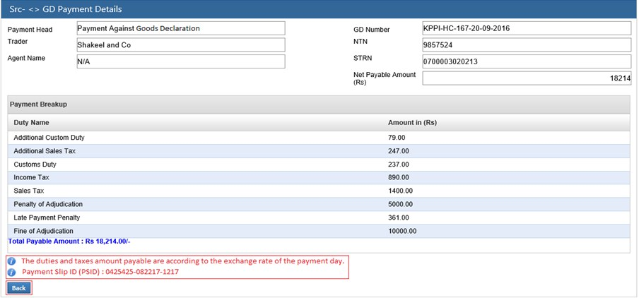 WeBoc-E-Payment-Generated-PSID-Page