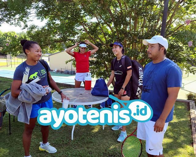Jelang Berlaga di ITF Evansville, Aldila Sutjiadi Berlatih Bersama Petenis Argentina