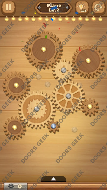 Fix it: Gear Puzzle [Plane] Level 2 Solution, Cheats, Walkthrough for Android, iPhone, iPad and iPod