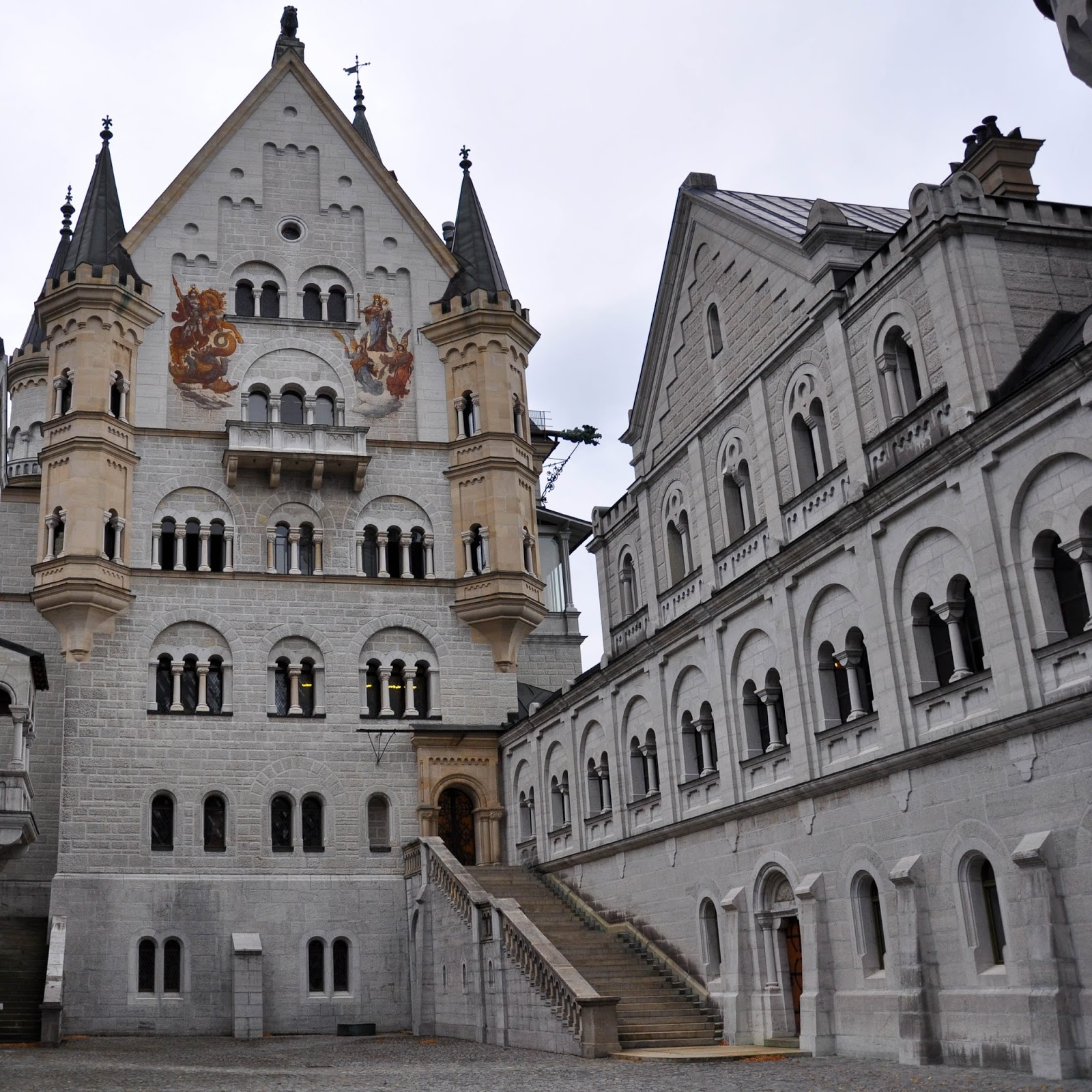 The Courtyard, Neuschwanstein Castle, Bavaria, Germany