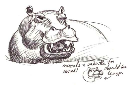Art by Jeane Nevarez: Hippo  Art by Jeane Ne...