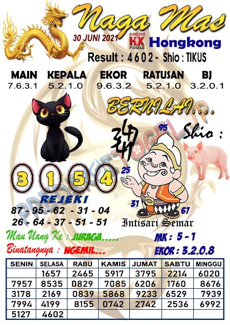Syair Nagamas HK Rabu 30 Juni 2021