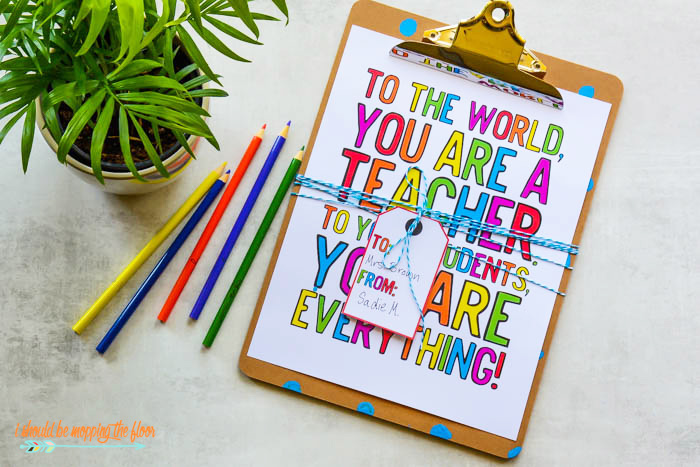 Printables for Teacher Appreciation Week