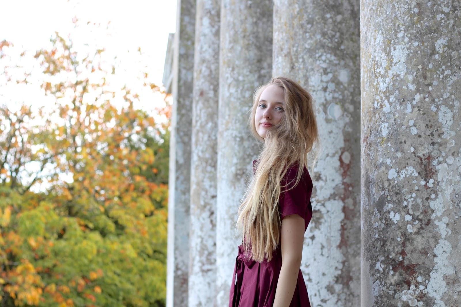 UK long hair personal style blogger dress