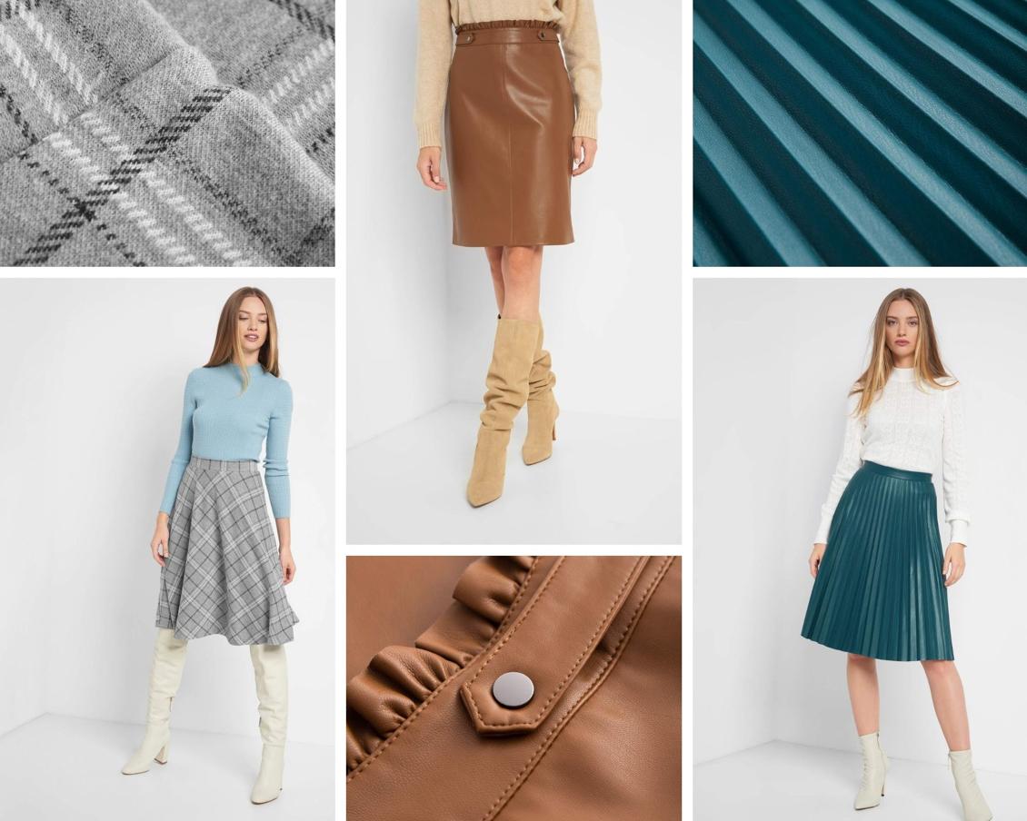 Stylische und bequeme Herbstoutfits - Inspiration - Leder - Wildleder - Wolle - Röcke - Plissee