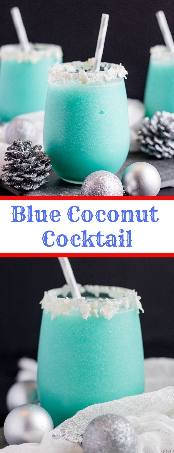 Blue Coconut Cocktail #COCKTAIL #FRESHDRINK